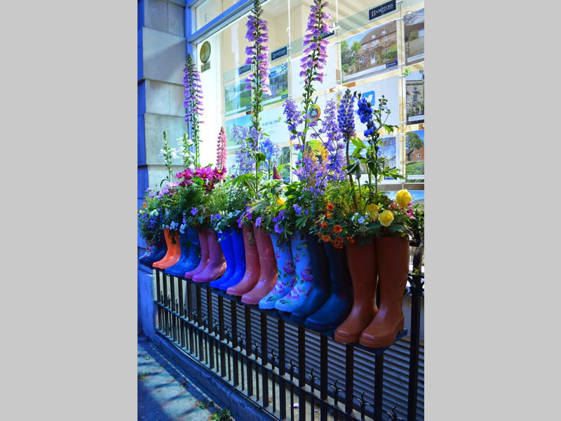 There's nothing like throwing some interesting and colorful elements to your kids garden. These boots are an art piece in themselves. Together with the miniature flowering and foliage plants in them, they become a star attraction of any garden.